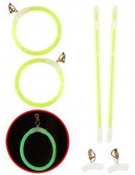 Øreringe selvlysende grønne til voksne