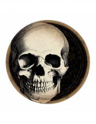 10 paptallerkener med kranier Halloween 23 cm
