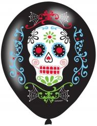 Balloner 6 stk. latex Dia de los Muertos