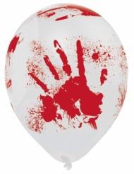 6 balloner i latex blodige hænder