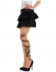 Strømpebukser tatovering slange til kvinder