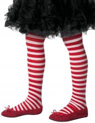 Strømper stribede hvide og røde til børn