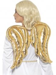 Englevinger i guldfarvet stof 50x40 cm til voksne