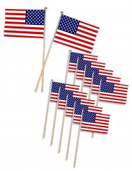 Snackpinde 12 stk. USA flag 11x7.5 cm