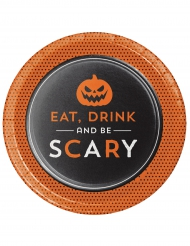 8 Tallerkener Eat Drink and Be scary 18 cm