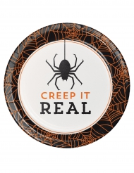 8 Paptallerkener Halloween Creep it real 18 cm