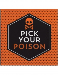 16 Papirservietter Pick your poison Halloween 33 x 33 cm.