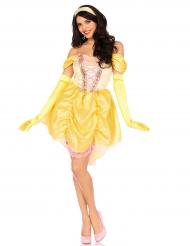 Kostume magisk gul prinsesse til kvinder