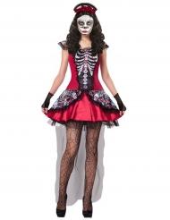 Kostume farverigt skelet Dia de los Muertos