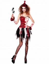 Kostume harlequin Halloween