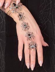 Edderkop armbånd med ring til voksne