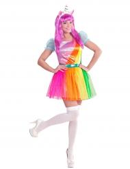 Kostume unicorn regnbue