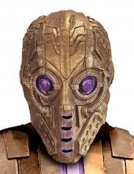 Guldfarvet robotmaske til voksne