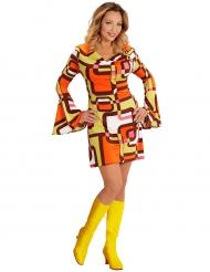 Kostume geometrisk kjole 70´er stil