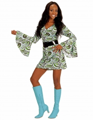 Kostume groovy bølget kjole