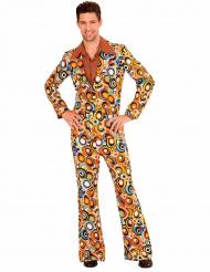 Prikket groovy 70´er kostume til mænd