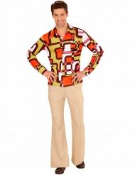 Skjorte groovy og geometrisk 70´er stil