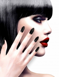 Sorte falske Halloween negle til voksne