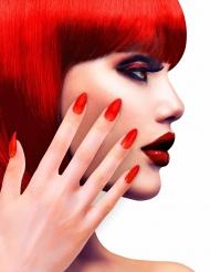 Falske røde negle til voksne