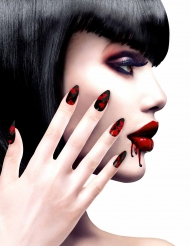 Blodige falske negle til kvinder - Halloween