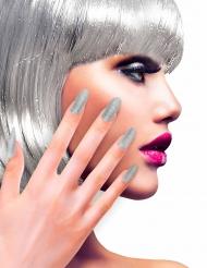 Selvklæbende negle sølvglitter til voksne
