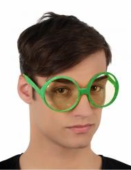 Runde briller med pailletter grønne til voksne