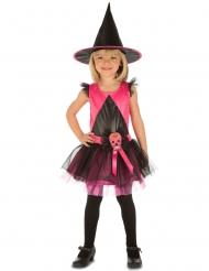 Heksekostume Dia De Los Muertos Pink til piger