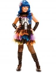Skeletkostume Regnbue Halloween til Piger