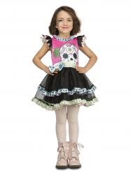 Dia de Los Muertos Kranie Kostume til piger