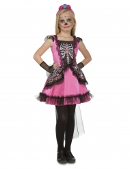 Dia de los muertos Kostume rosa til piger