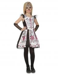 Dia de los Muertos Skelet Kostume til piger