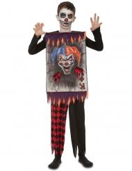 Spillekort Kostume Ond Klovn til børn