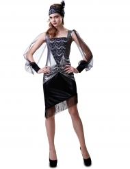Kostume sølvfarvet 30´erne til kvinder