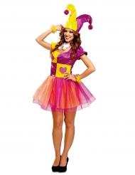 Kostume joker gul og lilla