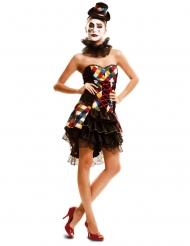 Kostume clownette multifarvet