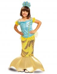 Kostume havfrue guldfarvet til piger