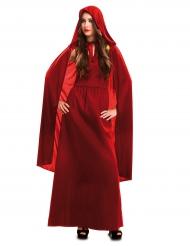 Rødt heksekostume til kvinder