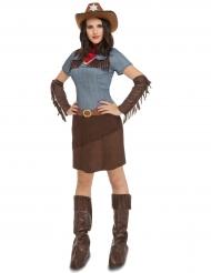 Denim cowgirl udklædning til kvinder