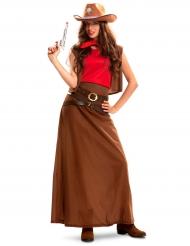 Kostume cowgirl langkjole