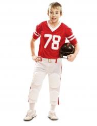 Amerikansk fodboldspillerkostume i rødt til drenge