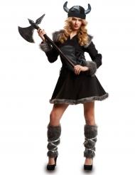Kostume viking sort til kvinder