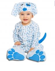 Kostume lille blå hund med sut til babyer