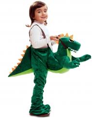 Kostume dreng på dinosaurus til børm
