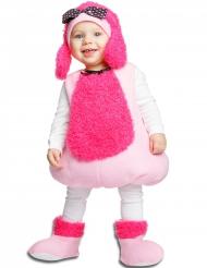 Kostume lyserød puddel til babyer