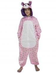 Kostume lyserød bjørn til børn