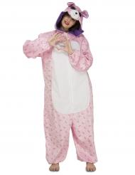 Kostume lyserød bjørn til kvinder