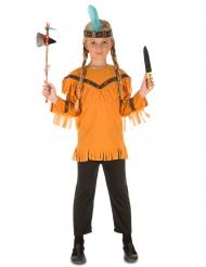 Kostume indianer med tilbehør til børn