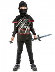 Kostume ninja til børn sort med tilbehør