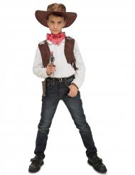 Kostume cowboy med tilbehør til drenge