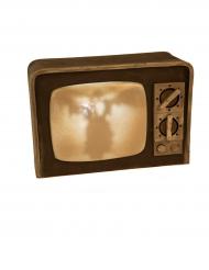 Deko Vintage TV med lys og lyd 21 x 31 cm Halloween